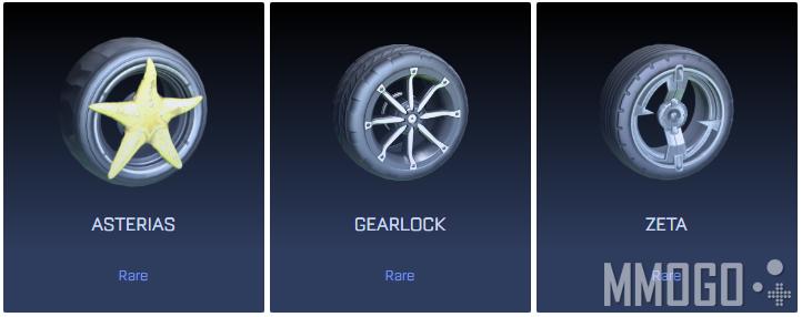 Rare wheels in Rocket League