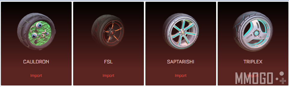 Import wheels in Rocket League