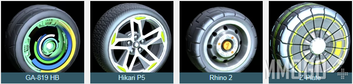 Unreleased Wheels in Rocket League