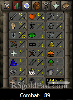 70 Attack/90 Strength/70 Defence