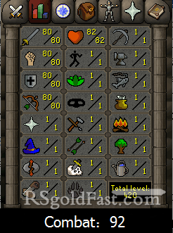 80 Attack/80 Strength/80 Defence/80 Ranged