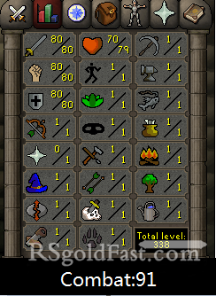 80 Attack/80 Strength/80 Defence