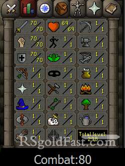 70 Attack/70 Strength/70 Defence