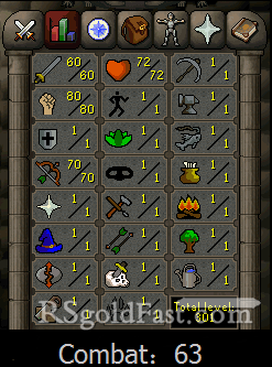 Pure Account 60 Attack/80 Strength/70 Ranged