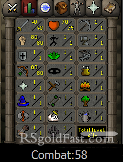 Pure Account 40 Attack/80 Strength/80 Ranged
