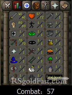 Pure Account 40 Attack/80 Strength/70 Ranged