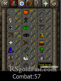 Pure Account 50 Attack/70 Strength/80 Ranged