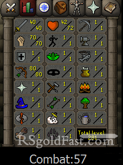Pure Account 40 Attack/70 Strength/80 Ranged