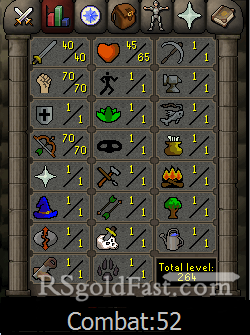 Pure Account 40 Attack/70 Strength/70 Ranged