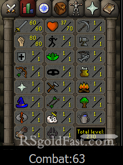 Pure Account 60 Attack/80 Strength
