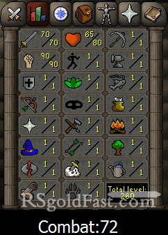 Pure Account 70 Attack/90 Strength