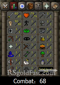 Pure Account 60 Attack/90 Strength
