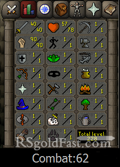 Pure Account 40 Attack/90 Strength
