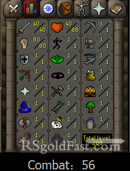 Pure Account 40 Attack/80 Strength