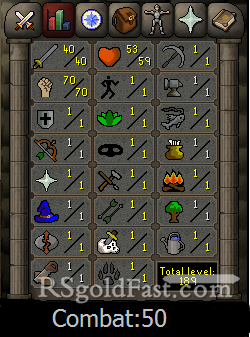 Pure Account 40 Attack/70 Strength