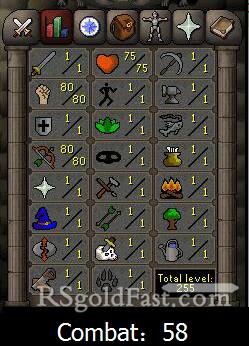 Pure Account 80 Strength/80 Ranged