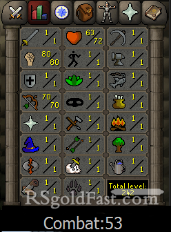 Pure Account 80 Strength/70 Ranged