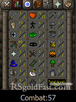 Pure Account 70 Strength/80 Ranged