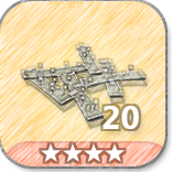 (20)Wooden Floor Spikes-4 Stars